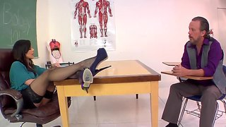 Femdom action by fascinating milf teacher and mature student