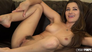 Dani daniels smiles a big smile as her orgasm nears and she gets off