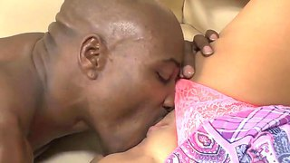 Precious beauty babe jennifer m is getting hot cunilingus pleasure from her black boyfriend wesley pipes.
