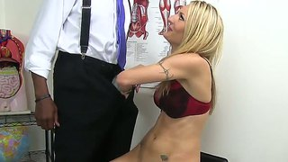Horny natasha starr fucks with her boss right in her personal office!