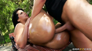 Keiran lee has a great time banging chica rose monroe in the back porch before dick sucking