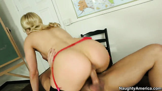 Kris slater uses his sturdy meat pole to make ashley fires with round butt and hairless muff happy