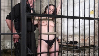 Female prisoner whipping and harsh bondage punishments of am