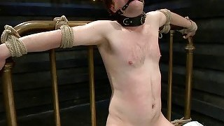 Busty prisoner used as sex slave