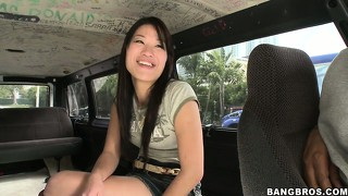 She doesn?t mind using her tight asian lips to pay for her ride
