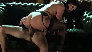 She's getting nailed so well she cries out in pleasure as he pounds her