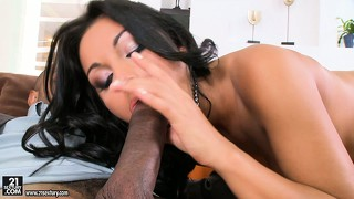 Taming the sexy latina she-lion was easy with his big black dick
