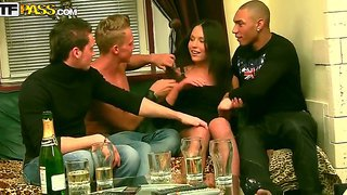 Sweet natalie gets hard fucked by three horny males in one nasty hardcore fuck