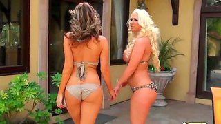Molly cavalli makes her busty guest get orgasm