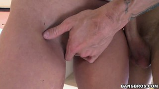 The stacked hottie loves how that cock brings her the intense pleasure she seeks
