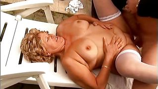 Blonde mature lady gets drilled hard