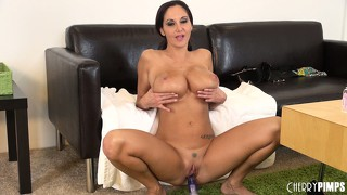 Ava addams embarks on journey to the centre of her muff with purple probe