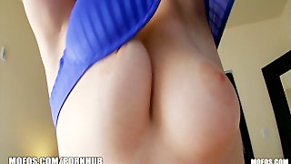 Flirty young latina gf wants to test out her man's new camera