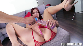 Fascinating whore mira with big booty blows dude's meat pole with big desire