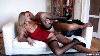 Teen cherry kiss gets down and dirty in cum flying action
