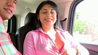 Kamila latina first time on audition right here in the car