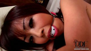 Japanese babe bound & gagged