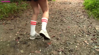 Caroline new balance sneaker hike with mud and water preview