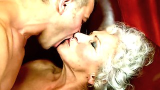 Nasty granny gets her snatch drilled by dude