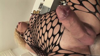 Blonde shemale gets her ass licked and then pounds his ass deeply