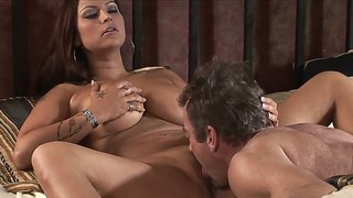 Sexy babe nikita denise gets her juicy pussy licked out by randy spears
