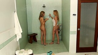 Chastity lynn and julia ann taking a hot shower