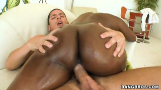 Black whore with a big ass riding cock in a hardcore ebony porn video