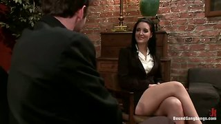 Office slut kimberly kane fucked by three guys at same time