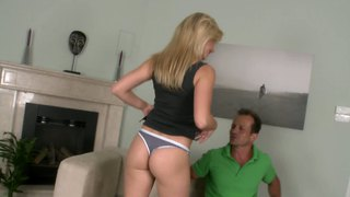 Chatty, blonde, bubbly bella baby gets nailed in the pussy by george uhl