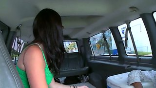 Cherry ferretti - tall college chick in sexy glasses visits out bus for some hot actions