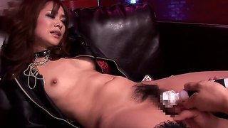 Skinny asian babe mihiro enjoys intense pleasure while letting hot stud to lick her hairy pussy
