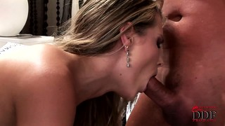 Blowjob, Group, Mund, Dreier, Bett
