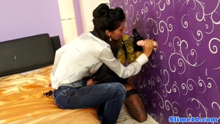 Alyssia loop brings strapon to gloryhole