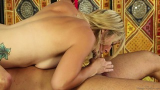 Massage, Geil, Pornostar, Blowjob, Blond