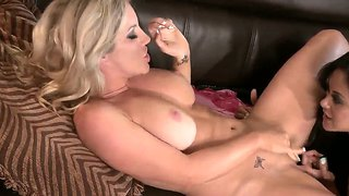 Ainsley addison and kaylani play with toys