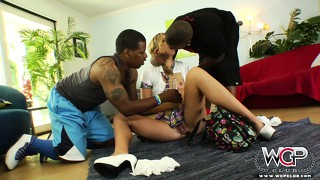 Blond, Pornostar, Babe, Interracial, Schwarz