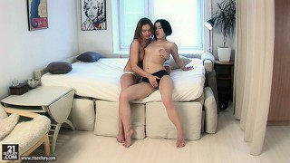 Ava's got a sexy guest craving for some tender lesbian bonking