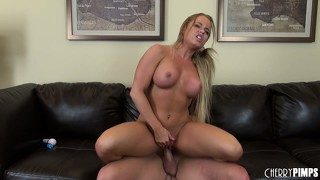 Nikki delano gags on a cock as she is brutally fucked by a stud