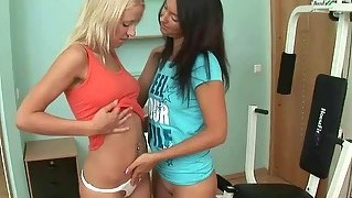Nice sporty teens making love