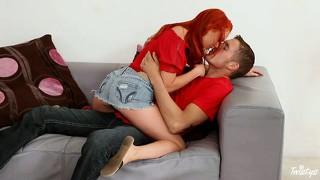 Dad is flirting with the babysitter before he takes her home, needing a cock sucking