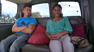 Beautiful yasmine gets picked up and receives a huge delicious pecker right in a car