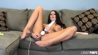 Alexis grace makes her quiver shiver with the titillation from a vibrator