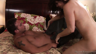 Nica noelle gets her mouth destroyed by stiff love wand of rocco reed
