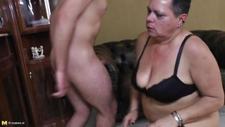 Short haired mature needs a young hard cock
