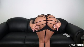 Alexis amore is a slutty brunette babe looking ever so sexy in a shredded dress