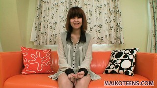 Sexy asian girl saki sensually takes her clothes off and exposes her attractive body