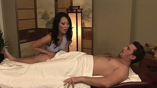 Experienced asian stunner asa akira with smoking hot body gives memorable blowjob to famous porstar manuel ferrara