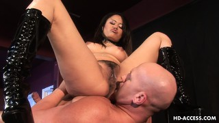 Unforgettable femdom strap-on fuck with gorgeous asian annie cruz