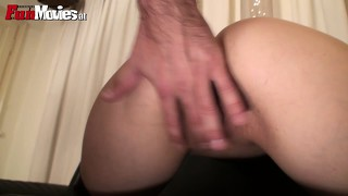 Sarah dark lets her slave try what her juicy pussy feels like