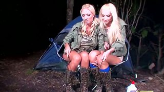 Sexy blondes molly cavalli and sammie rhodes are on camping